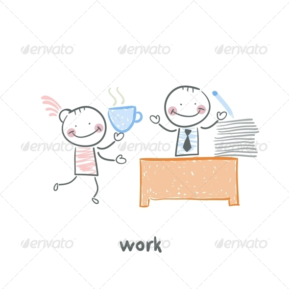 GraphicRiver Man and Work 5643582