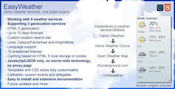 CodeCanyon EasyWeather The Weather Engine 5603975