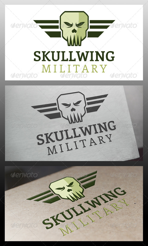 GraphicRiver Skull Wings Logo Template 5643725