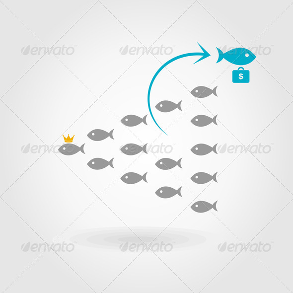 Flight of fishes4 - Stock Photo - Images