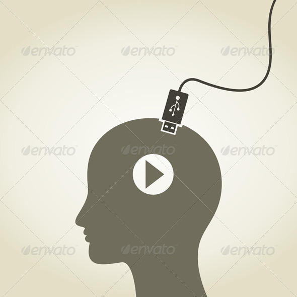 GraphicRiver Head as Computer 5644146