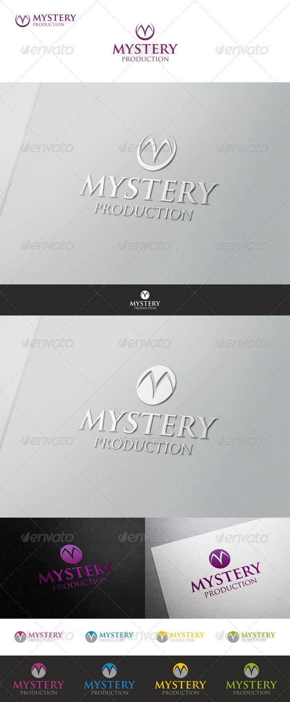 Mystery - M Logo Branding - Letters Logo Templates