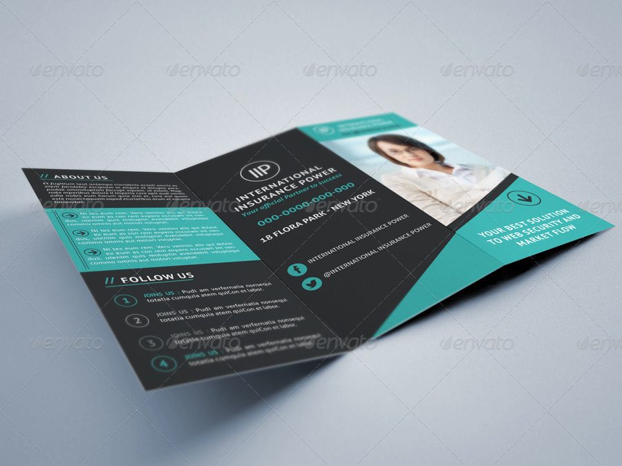 tri fold brochure template free indesign - business tri fold brochure by idesignstudionet graphicriver