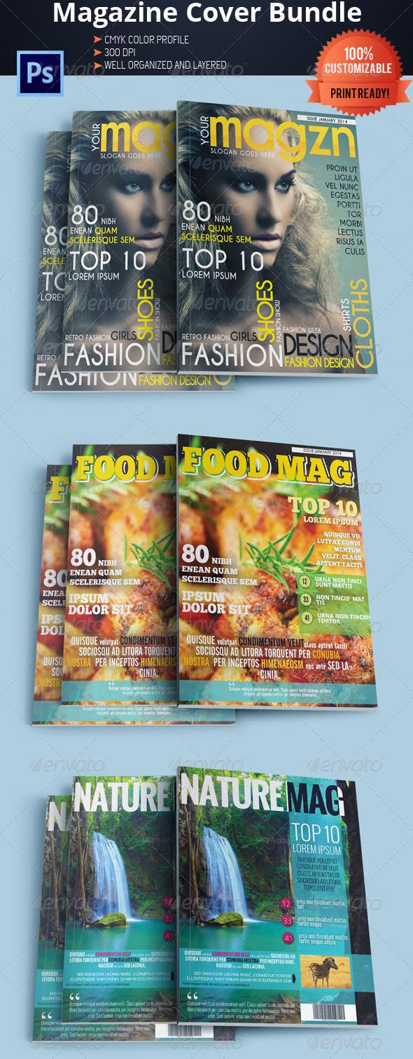 GraphicRiver Magazine Cover Template Bundle Vol.2 5644591