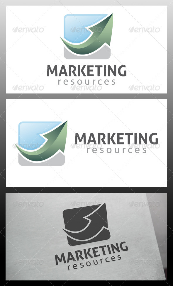 Marketing Arrow Logo Template
