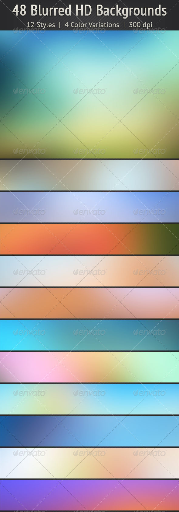 GraphicRiver 48 Blurred HD Backgrounds 5636811
