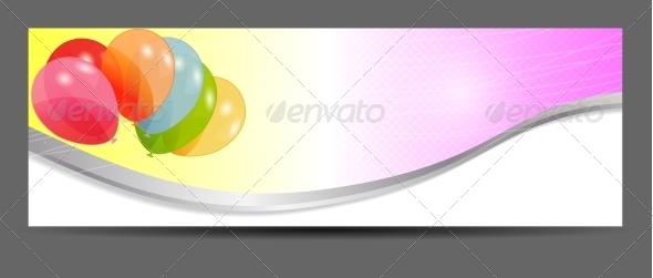 GraphicRiver Colored Balloons Banner 5644767