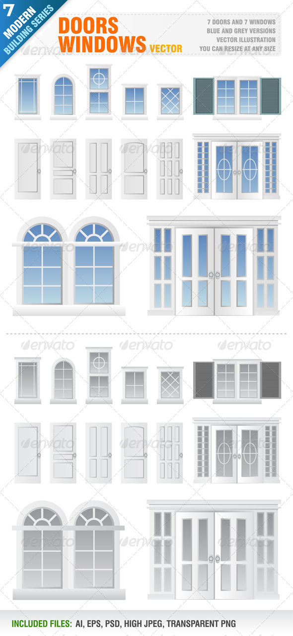 GraphicRiver Doors and Windows 5640783