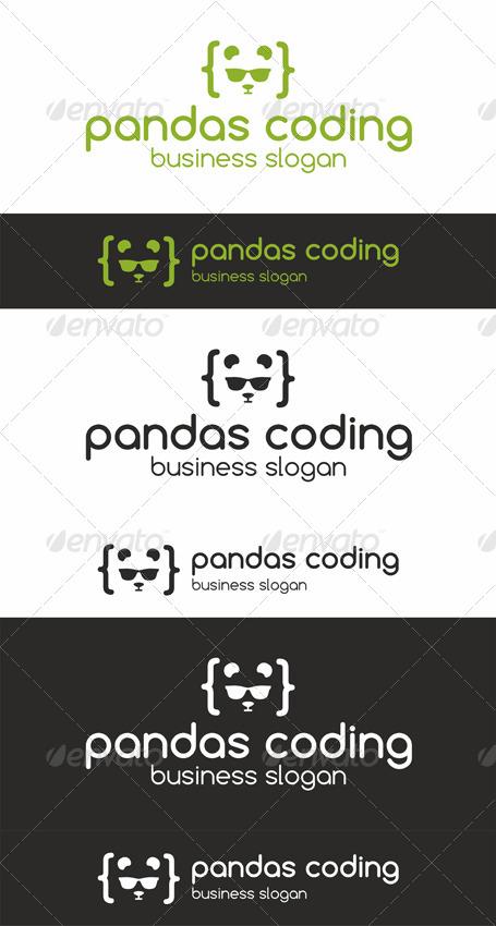 Pandas Coding Programmer Logo