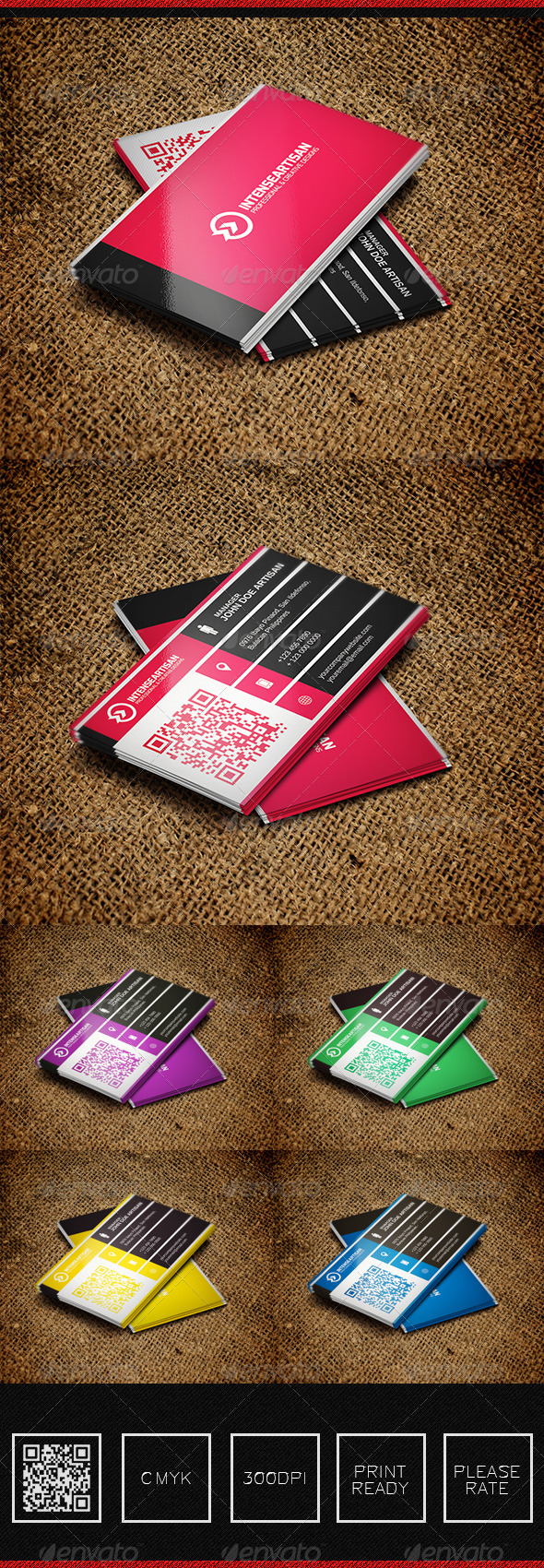 GraphicRiver Intense Artisan Creative Business Card Vol-38 5644969