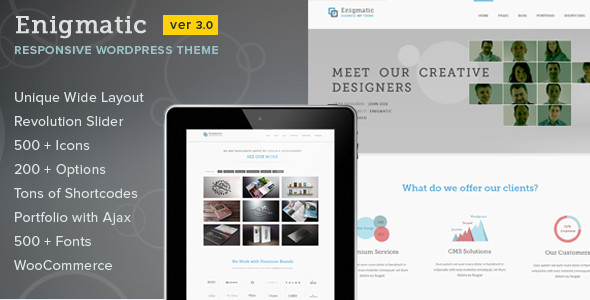 Enigmatic - Responsive Multi-Purpose WP Theme