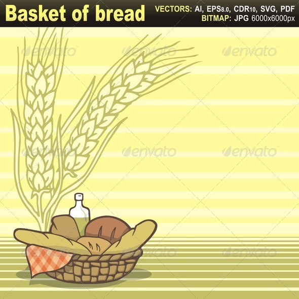 GraphicRiver Basket of Bread 5645002