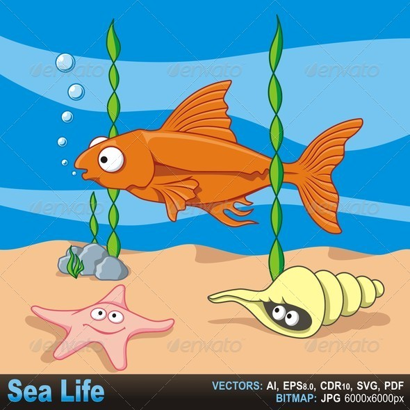 GraphicRiver Sea Life 5645008