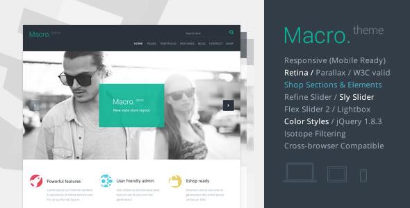 ThemeForest Macro Multipurpose HTML5 Template 5645010