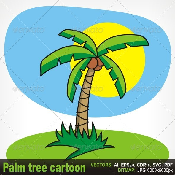 GraphicRiver Palm Tree Cartoon 5645011