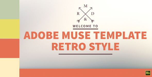 Retro Style - One Page Muse Template
