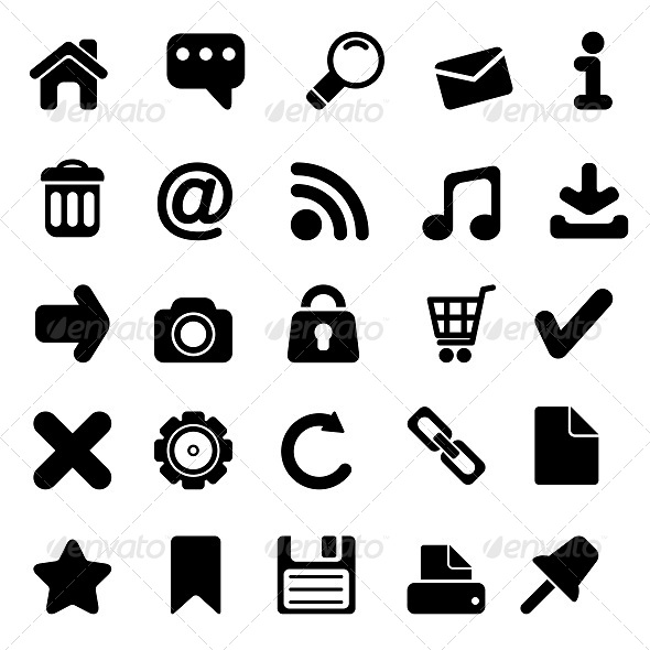 GraphicRiver Web Icons Set 5645110