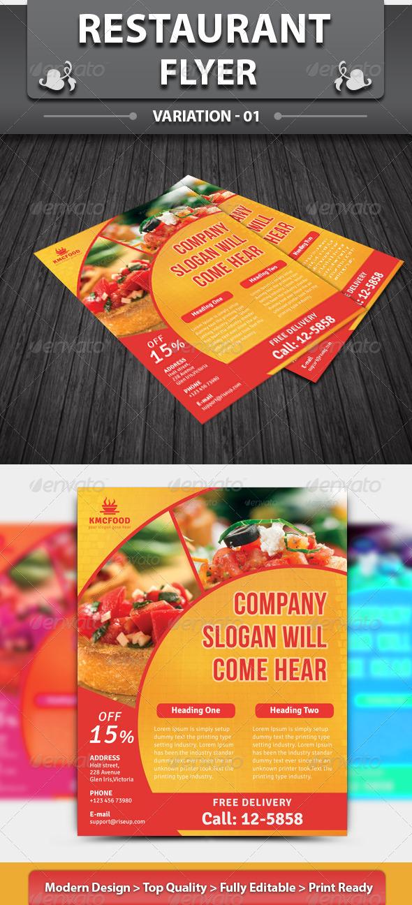 GraphicRiver Restaurant Flyer 5645310