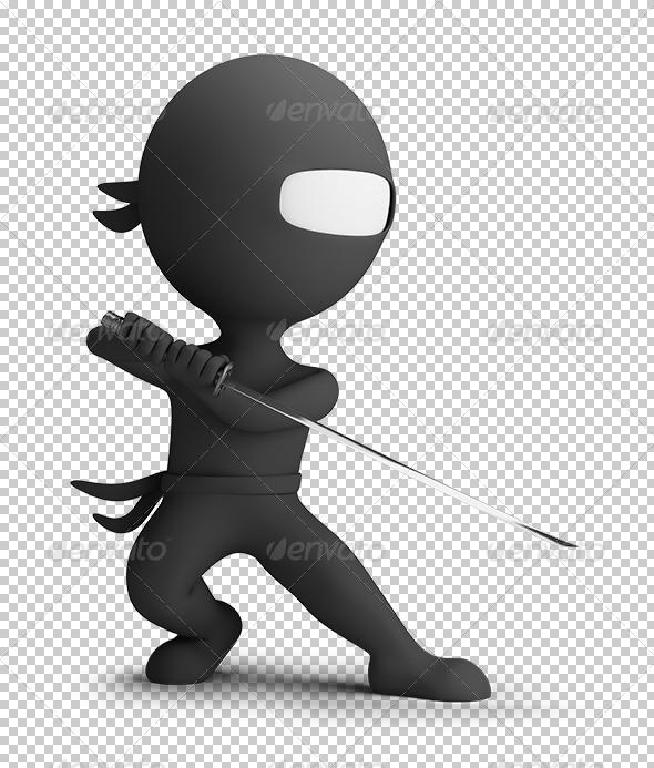 GraphicRiver 3D Small People Ninja 5645484
