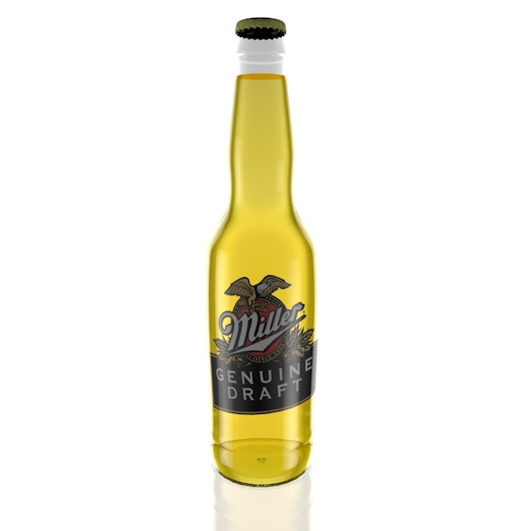 3DOcean Miller Beer Bottle 5645641