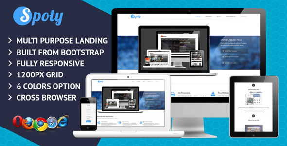 Spoty Multi Purpose Landing Page