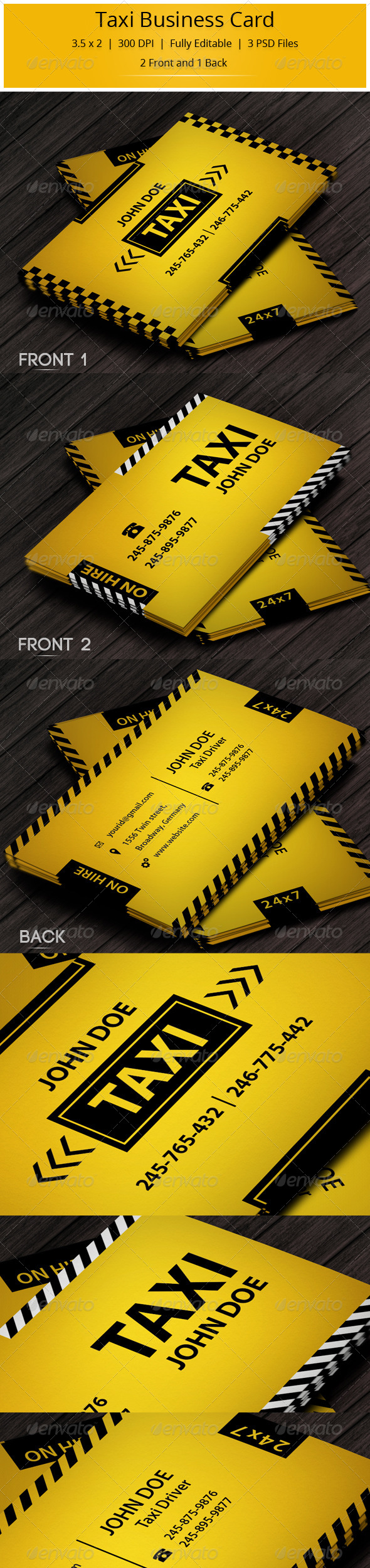 GraphicRiver Taxi Business Card 5645792