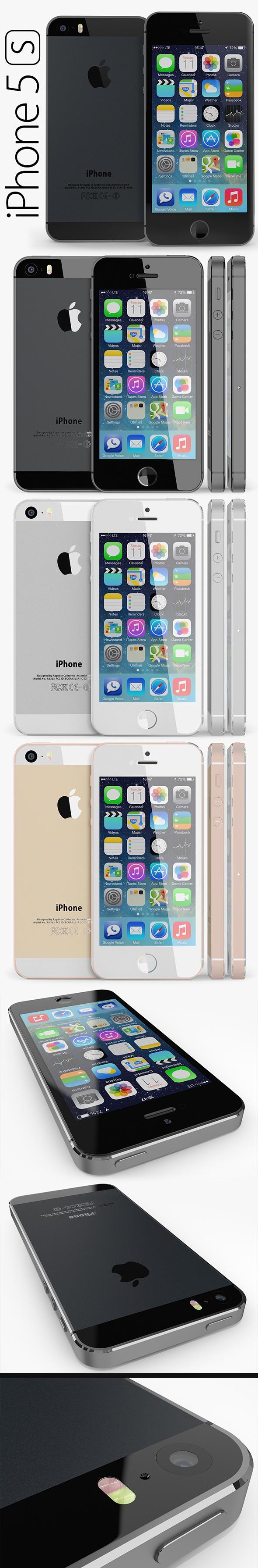 3DOcean Apple iPhone 5S 3DMAX 5645936