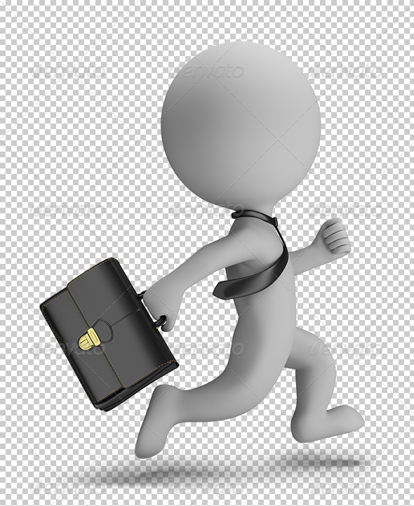GraphicRiver 3D Small People Businessman Running 5645967