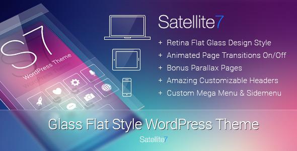 ThemeForest Satellite7 Retina Multi-Purpose WordPress Theme 5622532