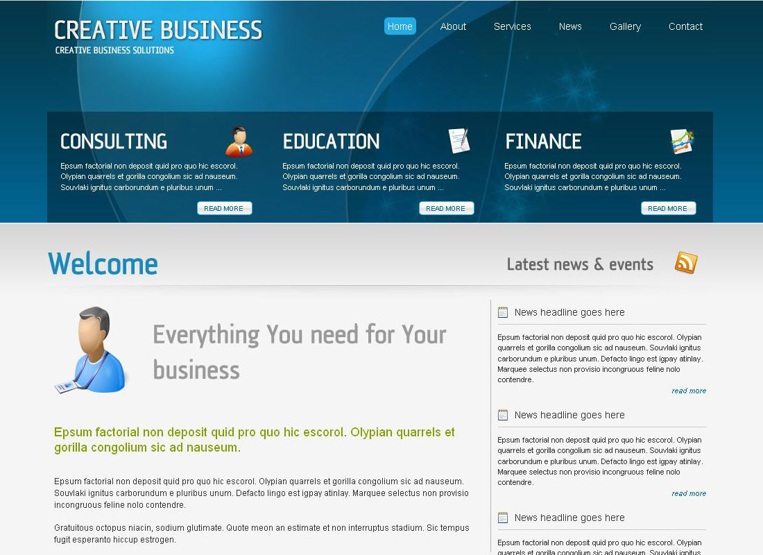 Creative Business - Full Corporate Template