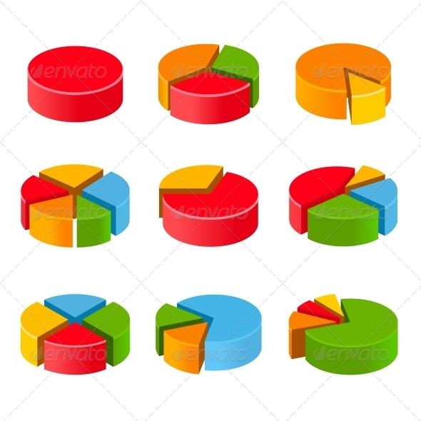 GraphicRiver Segmented and Multicolored Pie Charts Set 5646384