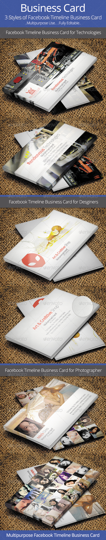 GraphicRiver Facebook Timeline Business Card 5646535