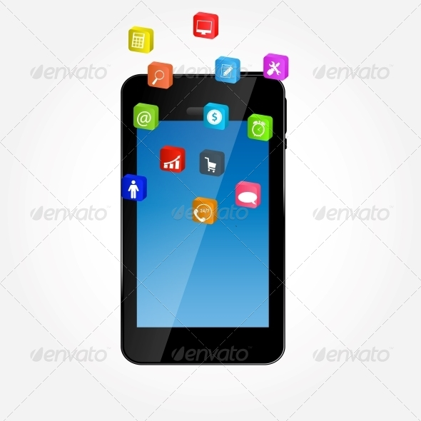 GraphicRiver Mobile Phone with Icons 5646557