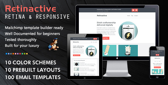 ThemeForest Retinactive Responsive Flat Email Template 5647065