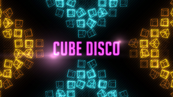 Cube Disco Background 8 Pack Looped