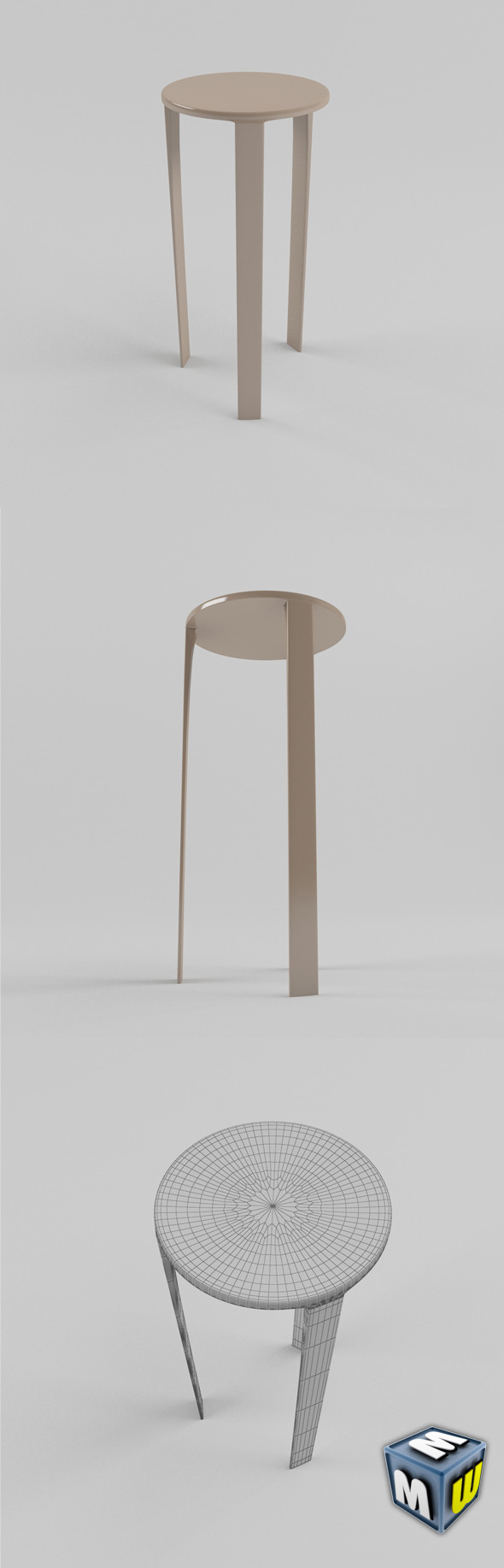 Stool MAX 2011 - 3DOcean Item for Sale