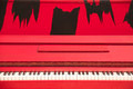 A Red Upright Piano - PhotoDune Item for Sale