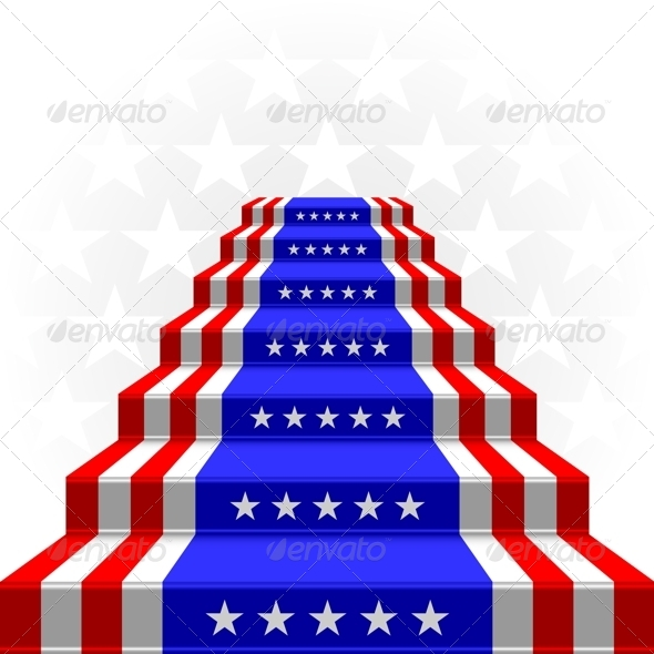 USA Flag Steps