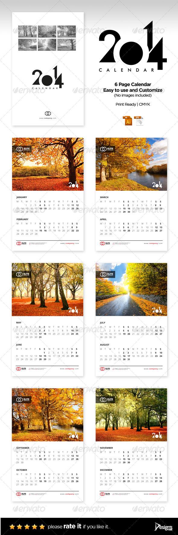 GraphicRiver Calendar 2014 Vol 1 5648388