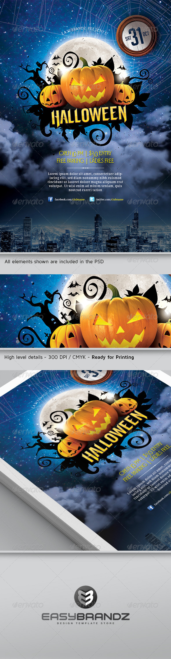 GraphicRiver Halloween Flyer Template 5648408
