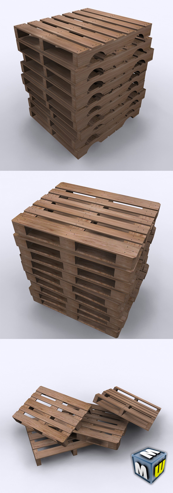 Wood Pallets Max 2010 - 3DOcean Item for Sale