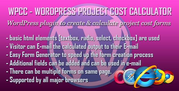 CodeCanyon WPCC WordPress Project Cost Calculator plugin 5648802