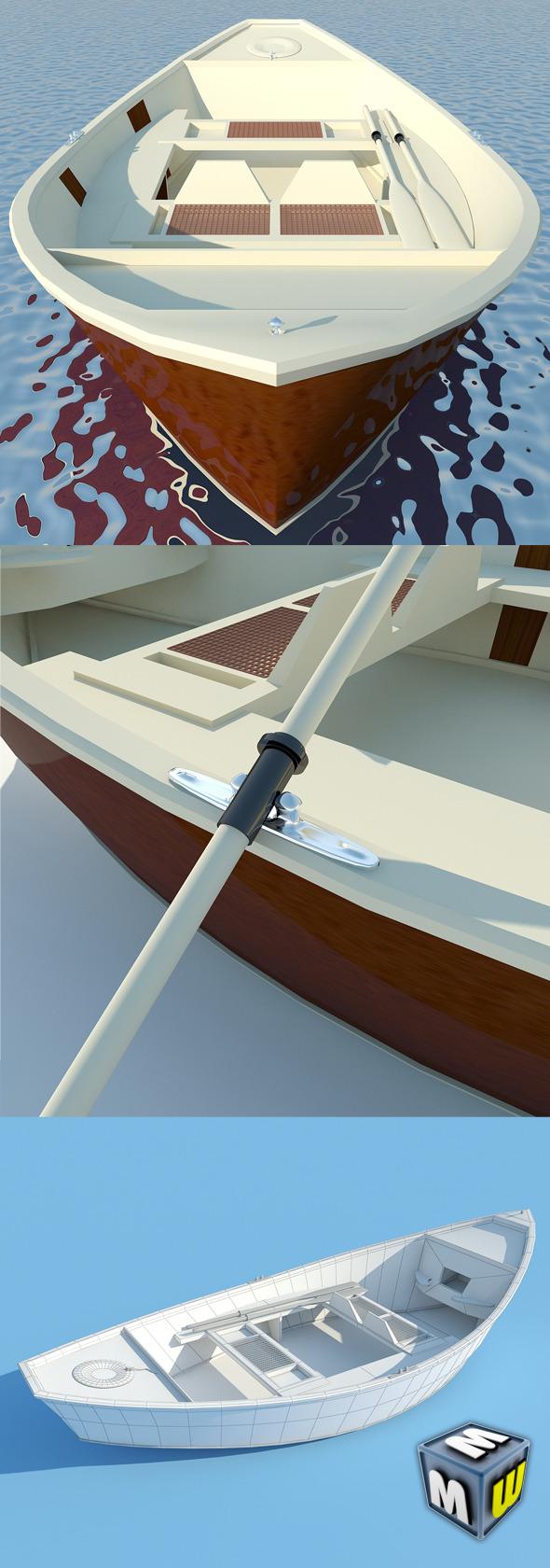 3DOcean Wooden Boat MAX 2011 5648822