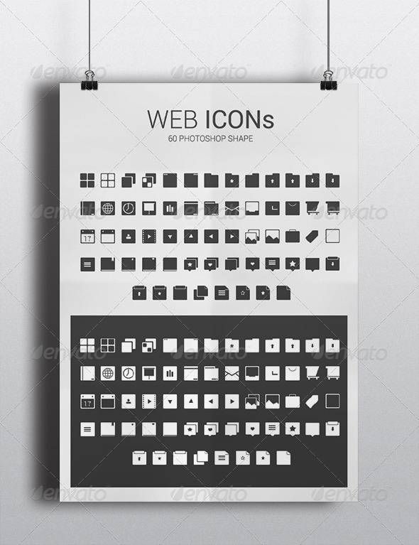 GraphicRiver Web Icon Photoshop Shape 5649317