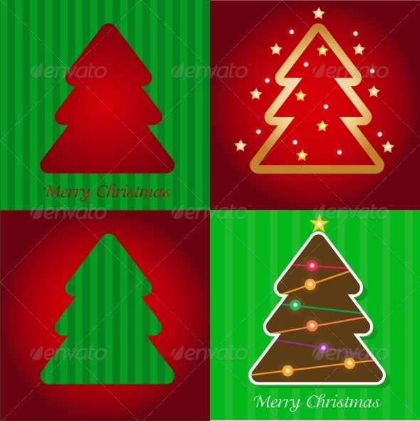 GraphicRiver Colorful Illustration with Christmas Tree 5649832