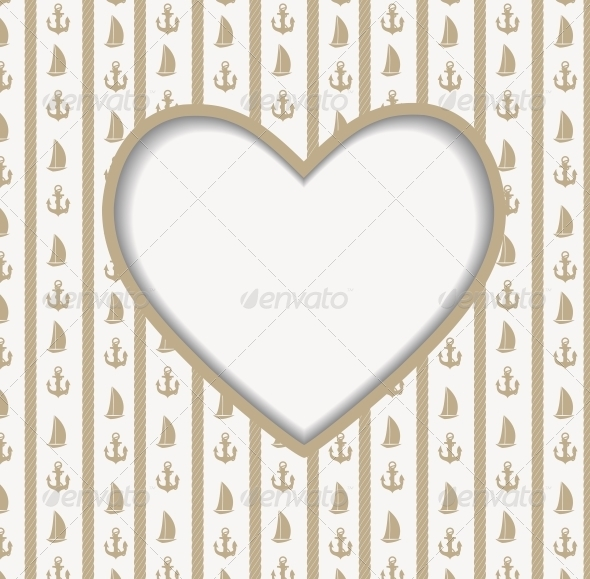 GraphicRiver Heart Background with Sailing Icons 5650013