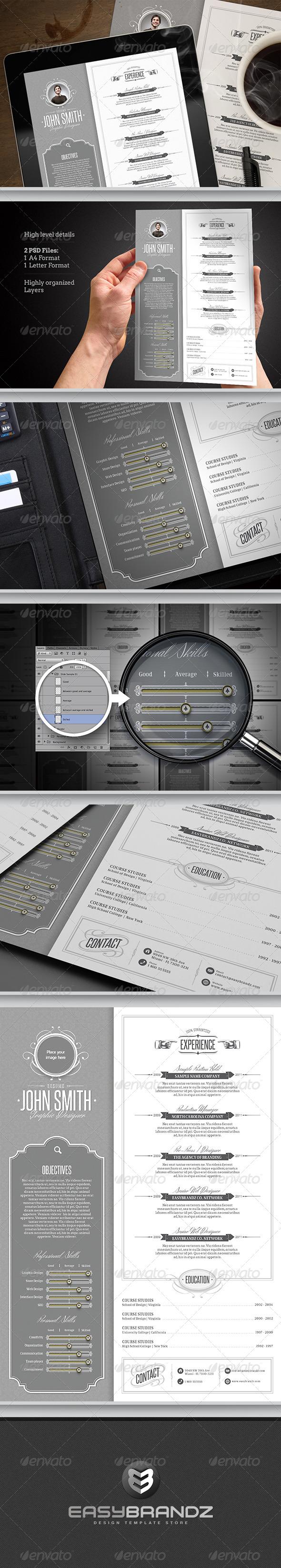 Retro Resume Template - Resumes Stationery