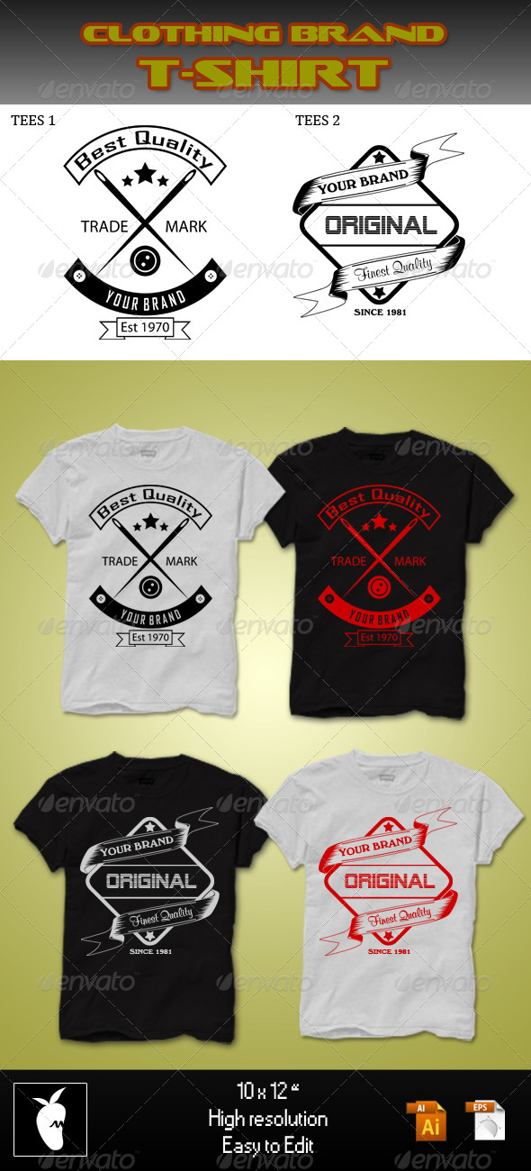 GraphicRiver Clothing Brand T-shirt 5638975