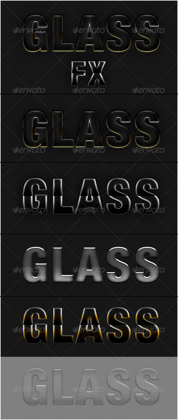 GraphicRiver 5 Glass Text Effect Photoshop Style 5650406