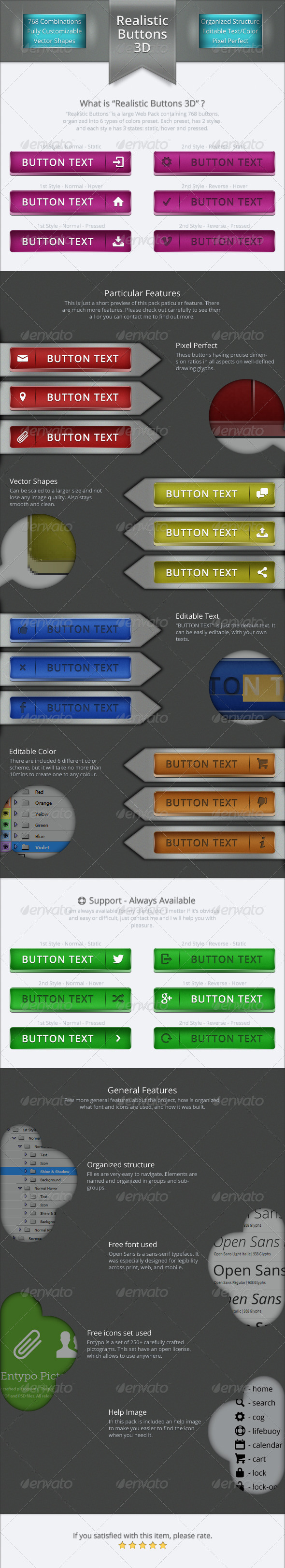 GraphicRiver Realistic Buttons 3D 5650491